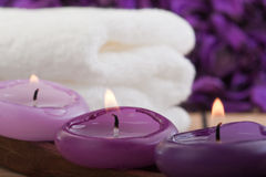 Purple spa concept (2) Stock Images