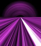 Purple space lines. Computer generated purple lines. Concept for perspective stock illustration