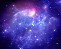 Purple space nebula Royalty Free Stock Images