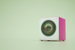 Purple speaker Royalty Free Stock Images