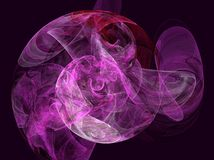 Purple sphere. Digital image created with apophysis Royalty Free Stock Photos