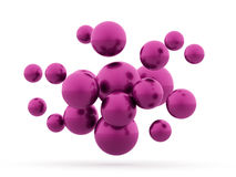 Purple sphere business concept rendered. Isolated Stock Images