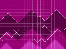 Purple Spikes Background Means Peaks And Jagged Lines Stock Photos