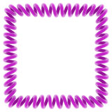Purple spiral frame Stock Photos