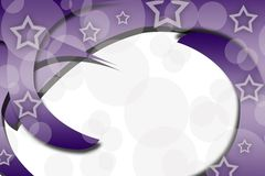 purple spiral with stars, abstract background Royalty Free Stock Photos