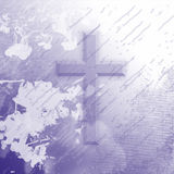 Purple Splatter Cross Royalty Free Stock Photos