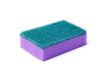 The purple sponge for cleaning Stock Photos