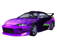 Purple Sports Car Stock Photos