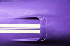Purple sports car (left rear) Stock Photo