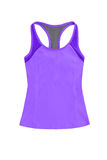 Purple sports top, isolated on white background Stock Image