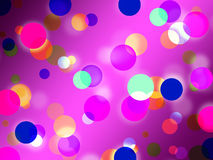 Purple Spots Background Means Glowing Dots And Round Stock Image
