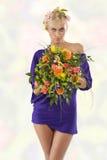 Purple spring woman Royalty Free Stock Photos