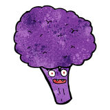 purple sprouting brocolli cartoon Royalty Free Stock Photography