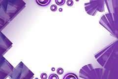 Purple square with arc and circle, abstract background Royalty Free Stock Image