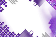 purple square left side, abstract background Royalty Free Stock Photo