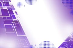 Purple square overlap, abstract background Stock Photography