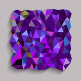Purple square in triangles texture Stock Photography