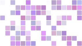Purple squares appearing in mosaic background stock video footage