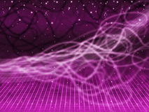 Purple Squiggles Background Means Tangled Lines And Stars Royalty Free Stock Image