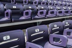 Purple Stadium Seats Close Up Royalty Free Stock Images