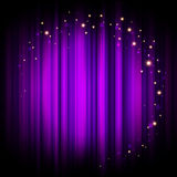 Purple stage background with lights Stock Photo