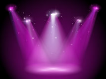 A purple stage. Illustration of a purple stage Stock Photos