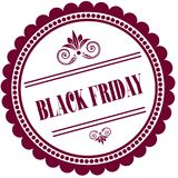 Purple stamp with BLACK FRIDAY . Illustration image concept Royalty Free Stock Photo