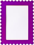 Purple stamp photo image frame. On white background stock images