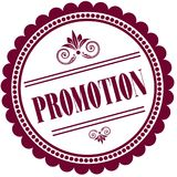Purple stamp with PROMOTION . Illustration image concept Stock Image