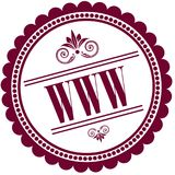 Purple stamp with WWW . Illustration image concept Royalty Free Stock Photo
