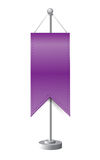 Purple stand banner template illustration Stock Images