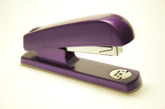 Purple stapler Stock Photo