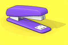 Purple Stapler Royalty Free Stock Photos