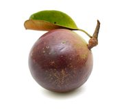 Purple star apple fruit with leaf Stock Photo