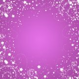 Purple Star Background Stock Image