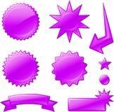Purple star burst designs Stock Image