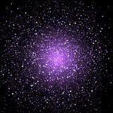 Purple star confetti background Royalty Free Stock Photos