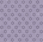 Purple Star of David Patterned Textured Fabric Background. That is seamless and repeats Royalty Free Stock Images
