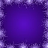 Purple Star Firework Frame. Illustration Card Stock Photos