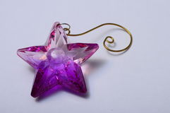 Purple star glass Stock Images
