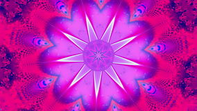 Purple star kaleidoscope stock video