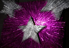 Purple star sparkling explosion Royalty Free Stock Image