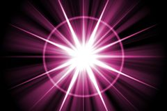 Purple Star Sunburst Abstract Royalty Free Stock Photography