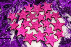 Purple stars Royalty Free Stock Photo
