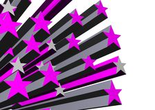 Purple stars Stock Photo