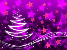 Purple Stars Background Means Night Sky And Zigzag Stock Photos