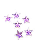 Purple stars confetti stock photos