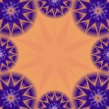 Purple Stars Frame Stock Images