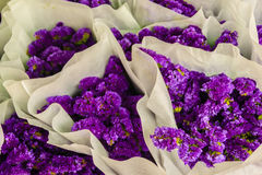 Purple statice flowers for sale in the flower market, Bangkok, T Stock Photo