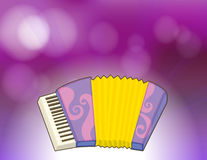 A purple stationery with a musical instrument Royalty Free Stock Images